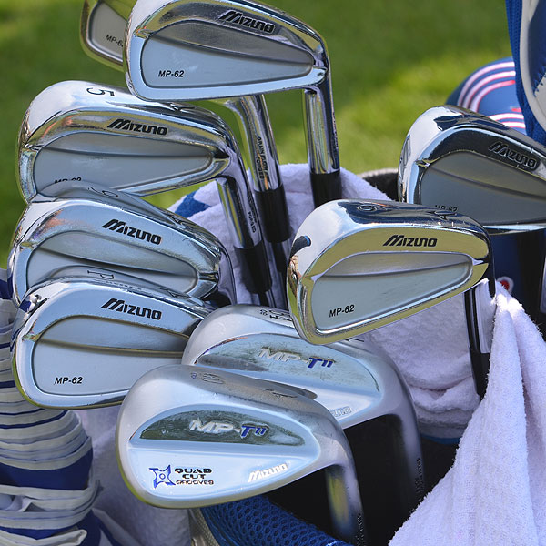 Luke Donald plays Mizuno's MP-62 irons and MP T-11 wedges.
