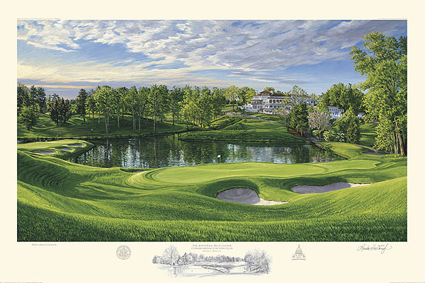 2011 U.S. Open Commemorative Painting, $225, hartough.com                       Lots of dads spend part of Father's Day on the sofa watching the U.S. Open. You can let the old man enjoy a unique view of Blue Course at Congressional Country Club's 10th hole by buying him a limited edition 2011 U.S. Open commemorative painting by Lynn Hartough. This is Hartough's 22nd official U.S. Open painting and only 850 prints will be made, each signed and numbered by the artist.