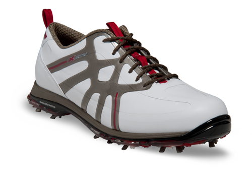 "Callaway X Cage Pro, $190; callawayfootwear.com                     Callaway's ""Triangulated Traction"" spike configuration keeps you balanced and stable by ensuring that there are three points of contact with the ground at any time throughout the swing."