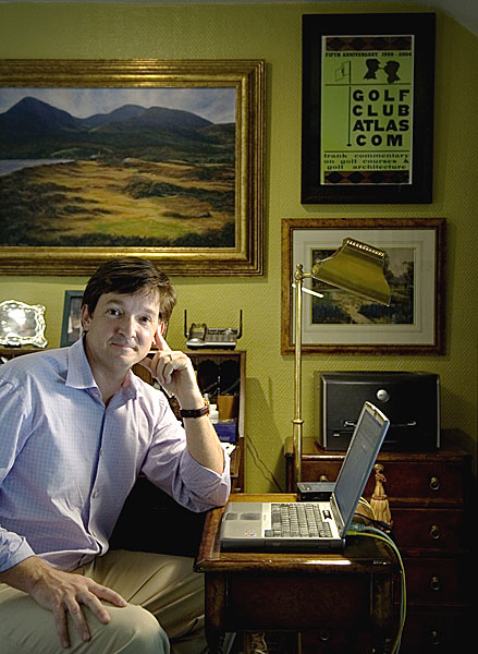 """The Curator                       RAN MORRISSETT, 44                       Keeping course-design debate alive (and lively) in cyberspace                       GolfClubAtlas.com                                                                                            """"I think of GolfClubAtlas.com as a museum. Architecture is                       an art, and a course is like a 200-acre canvas. My Web site gives                       like-minded people a place to discuss and debate these                       works, to keep the discussion happening. People on the site                       are regular guys who want to protect great courses and                       preserve classic architecture. The dialogue can get pretty                       intense. Things got personal a few years back when Tom                       Fazio redid the bunkers at Merion. A lot of name-calling. Some                       thought that changing the bunkers was akin to drawing                       glasses on the Mona Lisa. It's funny — the nicest, kindest                       gentleman can become a pit bull online! But that's part of the                       passion. It's my passion, too. This is a nonprofit site. Since I                       started it in 1999, I've gotten a lot of offers to sell, but I never                       will. It's like those commercials. Annual cost of running a web                       site: a few thousand dollars. Helping to keep architecture                       debate alive: priceless.""""                                              Help us choose the 2008 Innovators!                                                                     Update: The latest from Ran Morrissett"""
