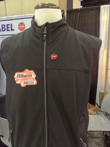 Mobile Warming Gear's Taylor Vest retails for $170 and features a temperature control button on the outside of the garment.