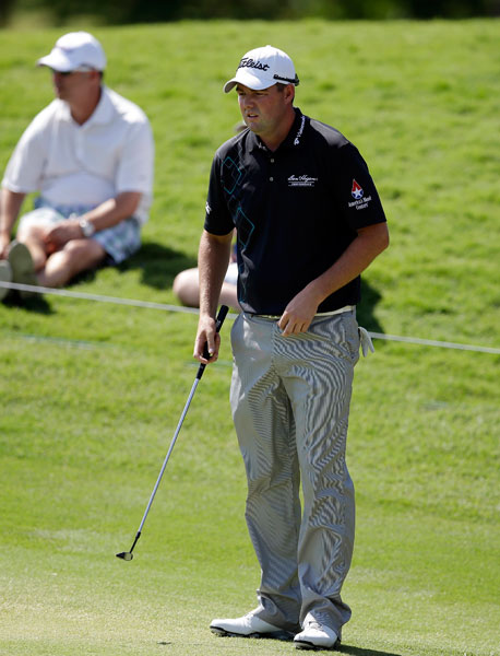 Australian Marc Leishman shot 68 to head to the weekend two shots back of leader Brendon Todd.