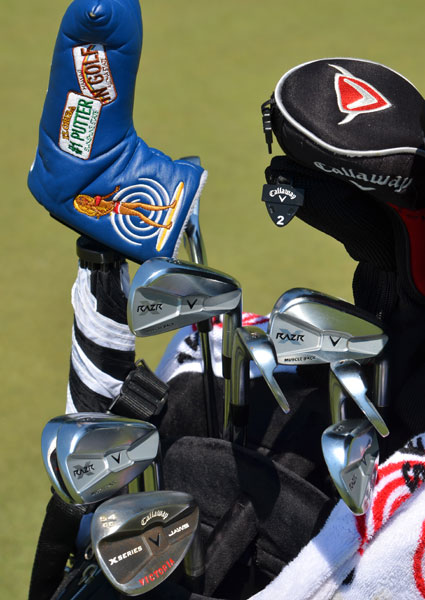 Marcel Siem from Germany, likes Callaway's new RAZR X Muscleback irons and girls on surf boards.