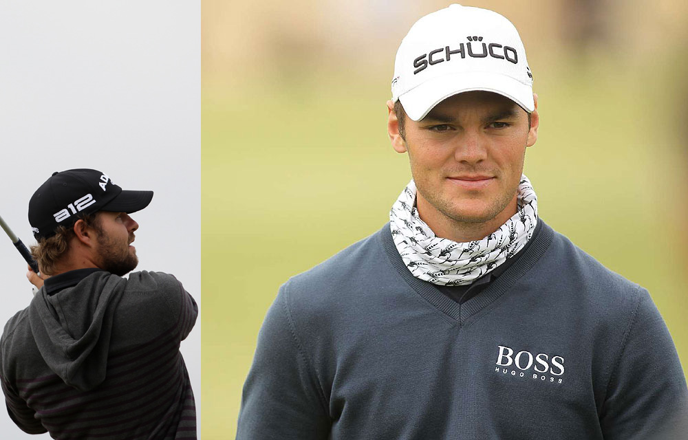 "More strangeness on the course: Martin Kaymer's unusual neck ""snood,"" worn on a windblown day in the Arizona desert, was actually a fly-fishing neckwarmer; in a different windy context, Ryan Moore's striped hoodie at Royal St. George's was simply a fashion faux pas."