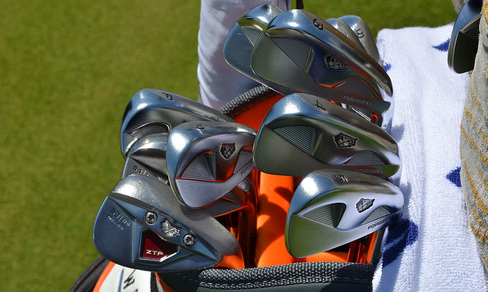 Martin Kaymer still uses a vintage set of TaylorMade RAC TP muscleback blade irons.
