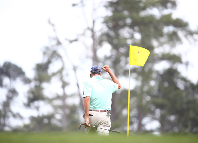 Matt Kuchar was briefly tied for the lead early in the round.
