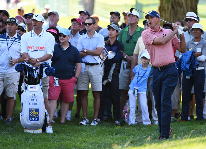 Ryder Cupper Matt Kuchar shot a 68 and was -5, tied for 12th, five shots behind the leader.