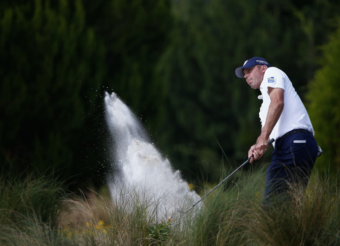 Ryder Cup team member Matt Kuchar stayed in the hunt with a second-round 70. He's -3, seven shots off the lead.