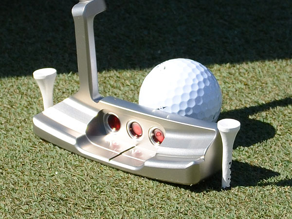 Matteo Mannesaro is using a yet-to-be-released Scotty Cameron California Series Monterrey putter.