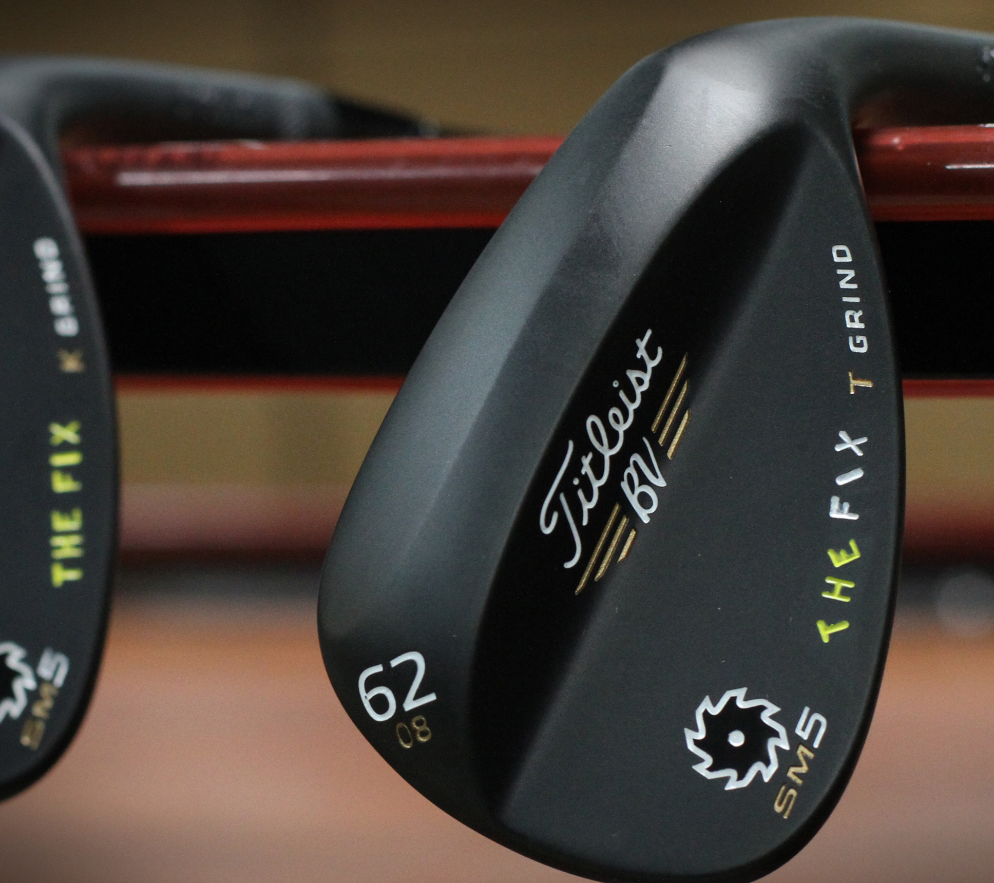 "Titleist made these Vokey wedges for Michael Breed, host of Golf Channel's ""The Fix."""