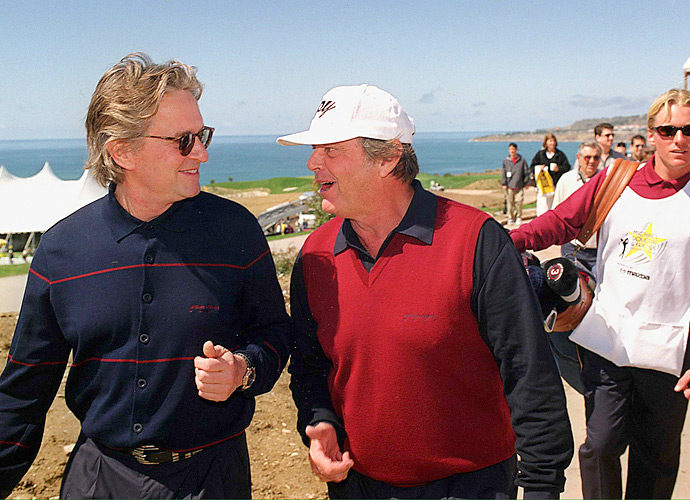 Oscar-winning actor Jack Nicholson joined Douglas for the 1999 Michael Douglas and Friends celebrity golf tournament.