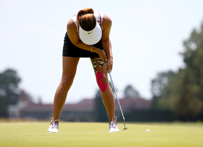 Michelle Wie, 24, is seeking her first major victory after being outdueled by Lexi Thomspon in the year's first major.
