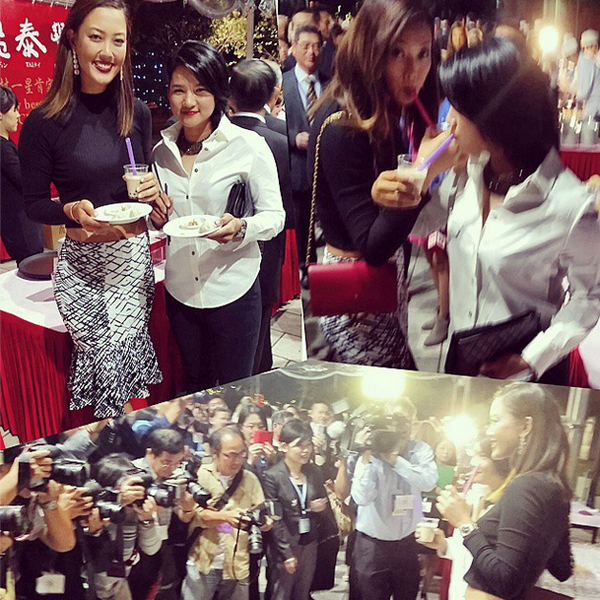 @themichellewie It's so amazing to see the overwhelming support by the Taiwanese people, welcoming home one of their own. Feel honored to be able embrace the culture w/ @yanitseng this week #eliteambasador #bubbleteafordays