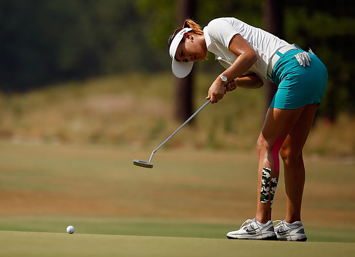 Wie birdied her final hole to finish with a 68.