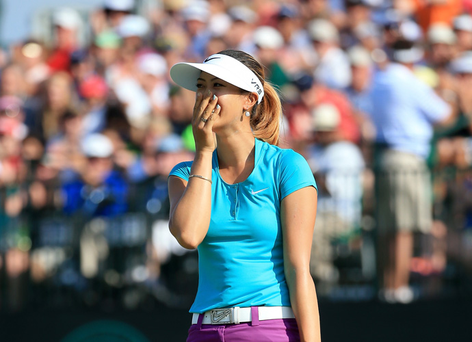 """Oh my God, I can't believe this is happening,"" Wie said after her round."