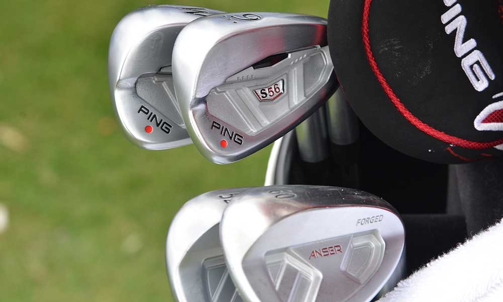 Miguel Angel Jimenez's Ping S56 irons and Forged Anser wedges.