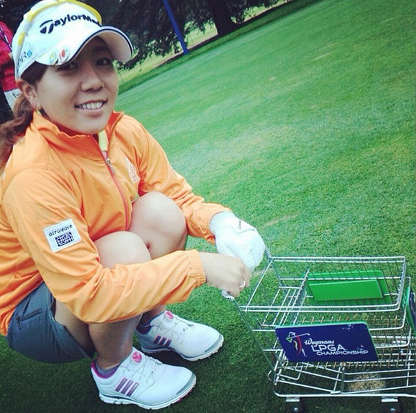 @mikachin33 Wegmans LPGA Championship this week!! #WeLoveRoc #Wegmans #ショッピングカート #今週のティーマーク