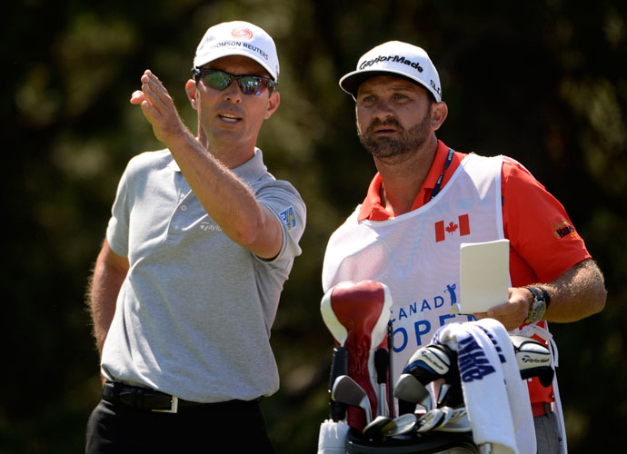 Local favorite Mike Weir shot an even-par 70.