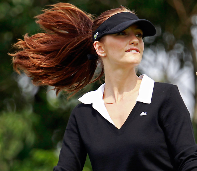Minka Kelly took part in the World Celebrity Pro-Am golf tournament in Haikou, in southern China's island province Hainan in 2012.