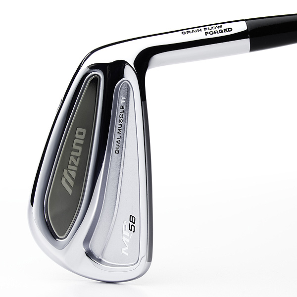 """$999 to $1,099, steel                     mizunousa.com                     Like all Mizuno forgings,                     the MP-58's are Grain                     Flow Forged from """"Pure                     Select"""" carbon steel. Here,                     however, 11 grams of                     titanium is pressed into                     the head to create an outer                     muscle that significantly                     improves forgiveness on                     off-center hits. In other                     words, these slick-looking                     irons are designed to                     provide the feel and                     playability of traditional                     Mizuno blades with                     added game-enhancing                     characteristics. The pleasing                     impact sound is the result                     of Mizuno's """"modal                     analysis"""" technology."""