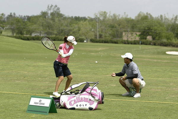 If you shot 78-78 and missed the cut like Momoko Ueda did last week, you'd be willing to try anything too!