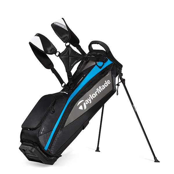 TaylorMade MicroLite Stand Bag ($159.99; Buy Now): Weighing it at only 4.5 lbs., the MicroLite stand bag is the lightest model in the TaylorMade lineup. Highlights include a 4-way top, EVA ergonomically molded hip pad, a cart-compatible base and zip-off ball pocket.