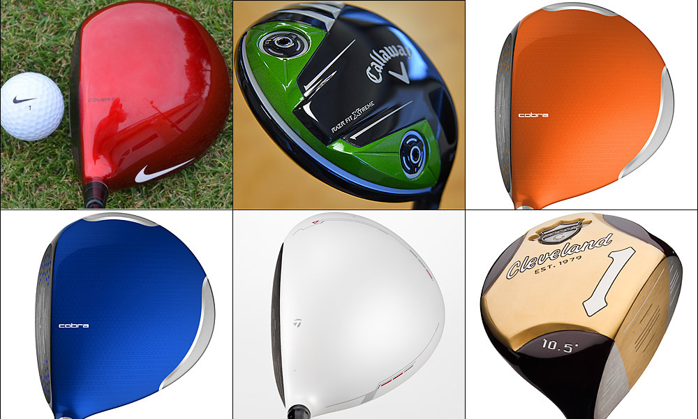 Colorful clubs                       After years in which drivers and woods came only in shades of black, club manufacturers have expanded their use of color, brightening pro shops and tee boxes around the world.