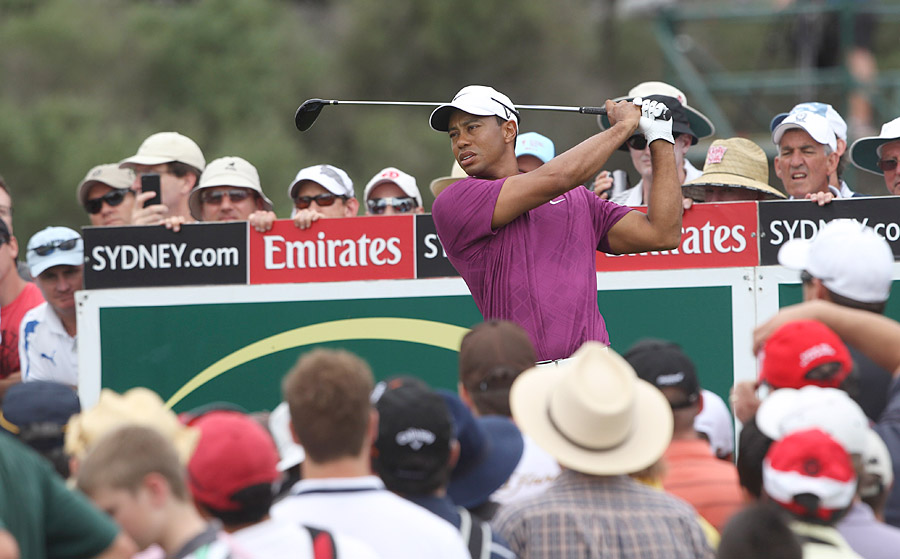 Woods followed that with birdies at the 10th, 11th and 13th to move to four under.