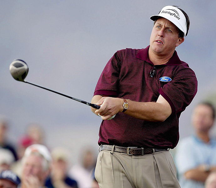 """Case of the Sudden-Death Club Switch                     THE DEFENDANT: Phil Mickelson                     THE CASE: At the 2003 Skins Game, the players needed a sudden-death playoff to determine the final skin of the two nine-hole contests. Before the extra holes, Mickelson switched one club in his bag for another. """"In my 25, 26 years on Tour, I had never heard of a player doing that,"""" Couples recalls. """"So I asked [a Rules official], 'What the hell is he doing?'""""                     Go to the next page for the verdict."""