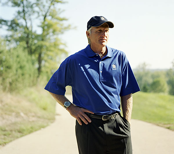 "The Legend                     GREG NORMAN, 52                     Making golf greener, one design at a time                                                               ""This January, I'll be honored with the Old Tom Morris Award, for giving                     back to the game. For one, I feel that golf should be more compatible with                     the environment. Courses elevate property value and create jobs as well                     as provide green spaces, filter air, and create a wildlife habitat. Doonbeg,                     in Ireland, was built with shovels, not bulldozers. We moved just 26,000                     cubic yards of soil and protected a microscopic snail species. In addition                     to that, my tournament, the Merrill Lynch Shootout, has raised more than                     $10 million for CureSearch National Childhood Cancer Foundation. So                     I'm proud to be mentioned with Old Tom. If we played each other? Well,                     I'd have the edge, because of my fashion sense. I'd wear something from                     my Greg Norman Collection, which is comfortable and stylish. How can                     you make a full turn wearing a double-breasted three-piece wool suit?""                                                               Help us choose the 2008 Innovators!"