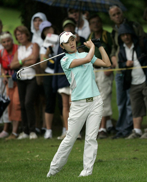 Na Yeon Choi has yet to earn a victory on the LPGA Tour but is trying to change that in Evian.