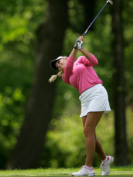 Natalie Gulbis' 72 left her in a tie for 26th.