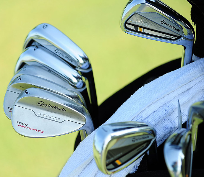 Nicholas Thompson trusts TaylorMade Tour Preferred wedges and TaylorMade RocketBladez Tour irons.