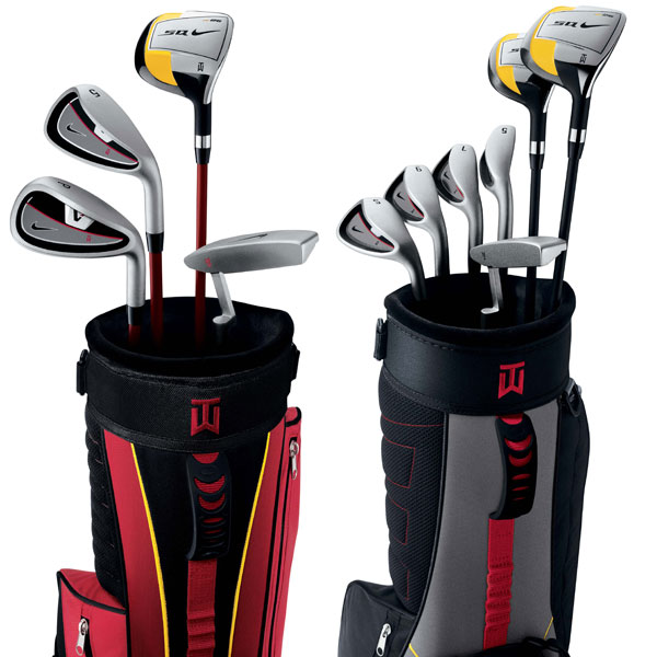 Nike Kids' Golf Club Sets                       nikegolf.com, $179 (Red) and $239 (Black)                       Inspired by the clubs Earl Woods made for Tiger when he was young, Nike has two new box sets that are sure to get youngsters excited about the game. Features include square-headed drivers, graphite-shafted irons, milled putters, nylon bags, balls, and grips scaled down to fit comfortably in little hands. The Red set, for ages 5-7, includes a driver, 5-iron, pitching wedge and putter. The Black set, for ages 8-11, has those clubs plus a hybrid, 7-iron, 9-iron and sand wedge instead of the pitching wedge.