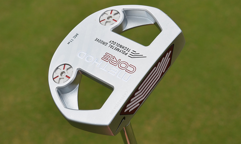 With weights set far from the face, the MC11 resists twisting on off-center hits.
