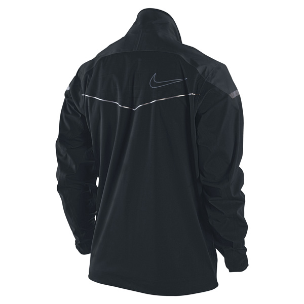 If the rain comes down hard, Tiger Woods and other Nike athletes at the British Open will reach for the company's top-of-the-line Storm-FIT Elite Full-Zip Jacket. Tipping the scales at just over six ounces, the jacket features breathable laminate technology that completely blocks wind and rain. ($300)