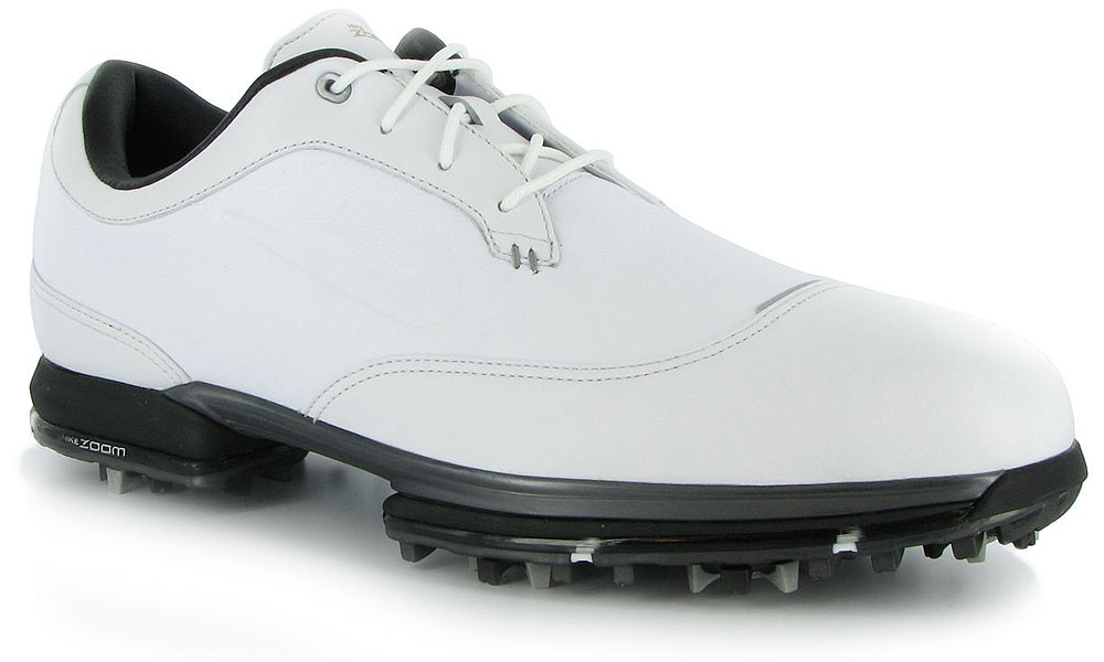 "Nike Tour Premium ($220, nike.com | Buy at Shop.Golf.com)                       These dapper Nike golf shoes have a sort of ""cap-wing"" tip -- that is, a combination of cap-toe and wingtip styling --  in full-grain leather with Nike zoom technology in the heel for cushioning."