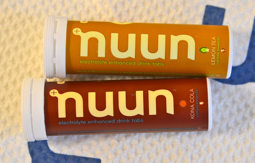 Nuun Tablets                       $24/four tube box, nuun.com                       Found in the golf bags of Paul Casey, Stewart Cink and several other PGA Tour stars, Nuun tablets dissolve in your water to create a tasty, electrolyte-enhanced sports drink. On the range at the Atlanta Athletic Club during the PGA Championship, Lemon Tea and Kona Cola were the most-requested flavors.