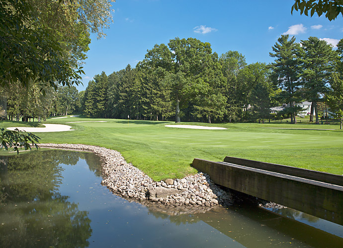 Oak Hill Country Club plays host to the 95th PGA Championship this week. (Pictured: First hole at Oak Hill East Course)