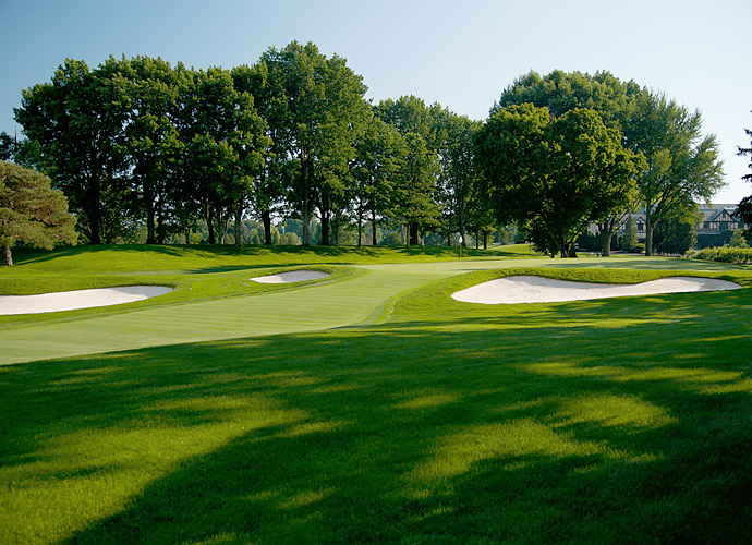 Oak Hill has two golf courses, East and West, that were both designed by famed architect Donald Ross. (Pictured: 9th Hole at Oak Hill East)