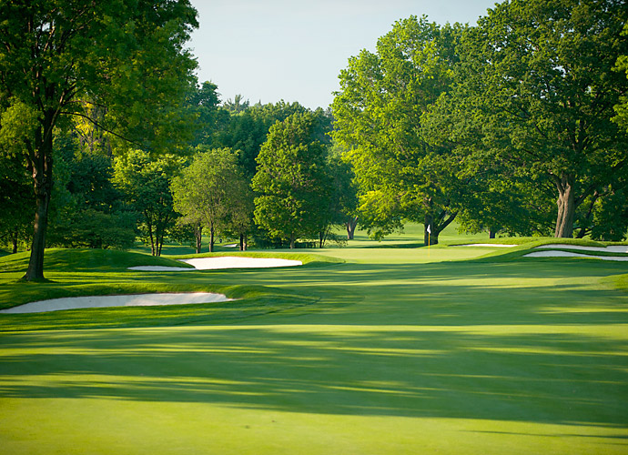 This week's PGA Championship is the sixth major to be played on the East Course. (Pictured: 17th hole)