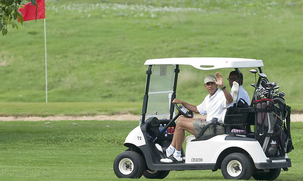 President Obama was frequently criticized by opponents for playing too much golf during his first term.