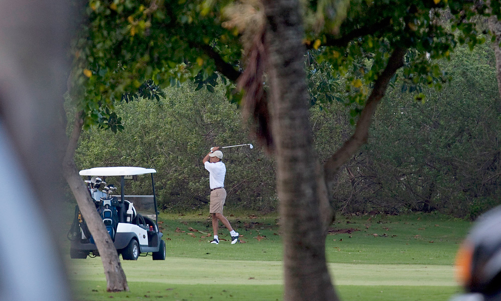He also tried his game at Kaneohe Klipper Golf Course at a Hawaiian Marine Corps Base in 2010.