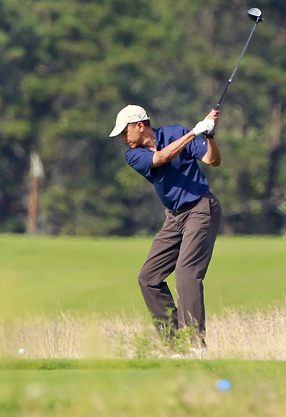 President Barack Obama played a lot of golf during his first four years in the White House. Here's as look back at the Golfer in Chief's first term on the course.
