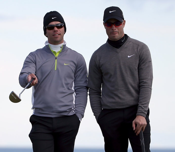Pistorius and Paul Casey at the 2012 Alfred Dunhill Links Championship.