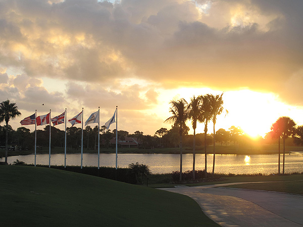 started at sunrise Tuesday at PGA National Resort & Spa in Palm Beach Gardens, Fla.