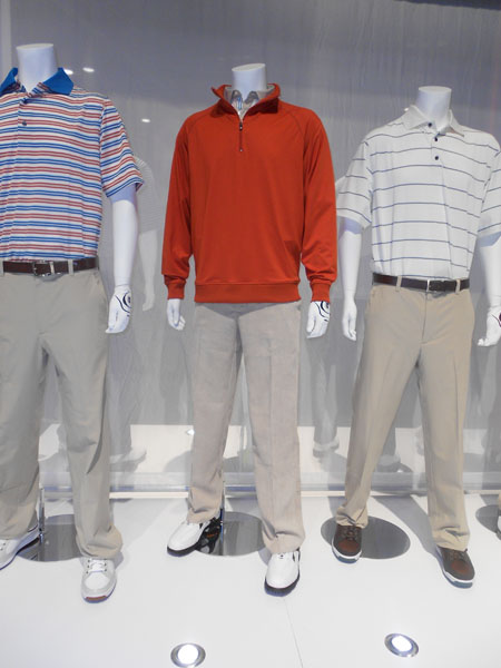 FootJoy introduced light-as-air corduroy golf pants for fall 2013.