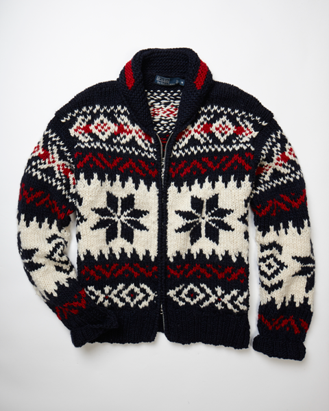 Ralph Lauren Intarsia-Knit Zip-Up Sweater, $398; ralphlauren.com                     Stay warm and cozy at the 19th hole with Ralph Lauren's holiday-themed 100 percent wool sweater.