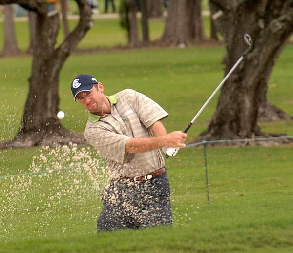 Rod Pampling of Australia was near the top of the leaderboard all day and finished three shots back with a 2-under 70.