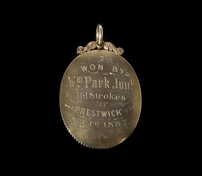 Willie Park, Jr.'s winner's medal from the 1887 British Open.
